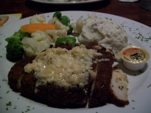 Pecan-crusted chicken, Red Stag Tavern, 1496 Lower Water